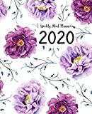 Weekly Meal Planner: Meal Planner With Calendar   A Year - 365 Daily - 52 Week Daily Weekly and Monthly For Track & Plan Your Meals Weight loss or ... Floral Watercolor Design (food planner 2020)