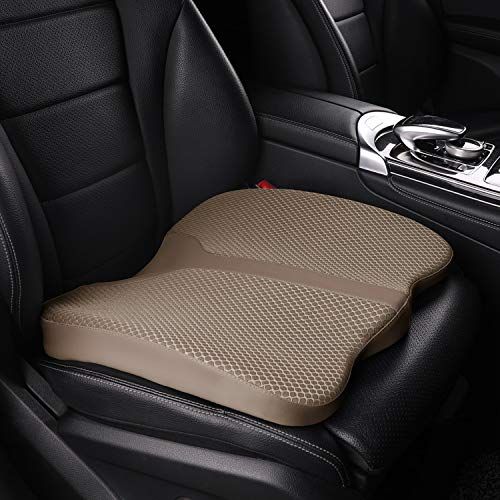 LARROUS Car Memory Foam Heightening Seat Cushion,Tailbone (Coccyx) and Lower...