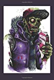 Zombie Hipster Notebook: Funny Novelty Hipster Gift ~ Small Lined Notebook (6' X 9')