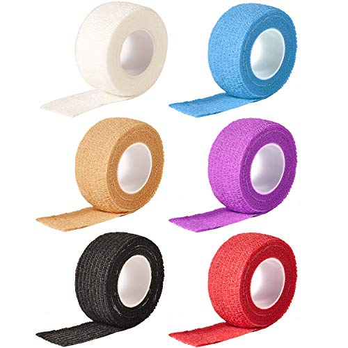 Geviro Nagel-Fingerschutzfolie, Vlies, selbstklebend, stark, elastisch, 6 Farben