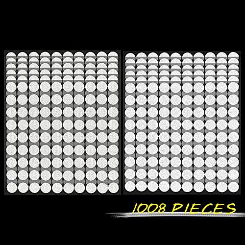 fruitlet Self Adhesive Belcro Dots 10 mm, 1008 piezas Belcro Belcro Puntos Autoadhesivos Blanco, 504 pares de puntos de Belcro autoadhesivos, pequeños, Hook and Loop Dots, Belcro Redondo 1 cm