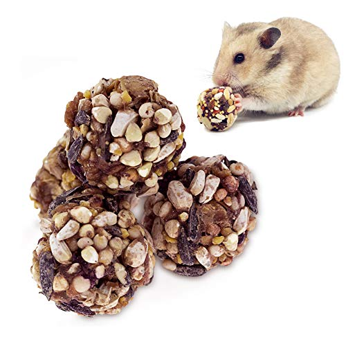 ULIGOTA Crunchy Chew Treats for Hamsters, Small Animal Food and Chew Toy for Gerbils, Rats