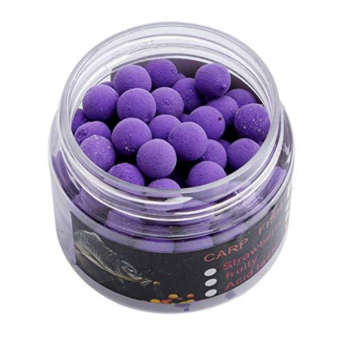 LJSLYJ Geruch Pop Up Karpfenangeln Köder Floating Ball Perlen Feeder Künstliche Karpfen Köder Locken für Salzwasser Süßwasserfischen (lila, 8mm)