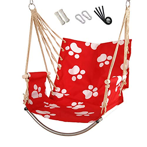 WEF Hammock Hanging Chair Adult Children Single Hanging Chair Indoor and Outdoor (Load 220 LB) (Color : #B)