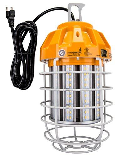 Hyperikon LED Temporary Work Light Fixture, 80W, Orange Construction Drop Light, IP65 Waterproof, UL, Crystal White