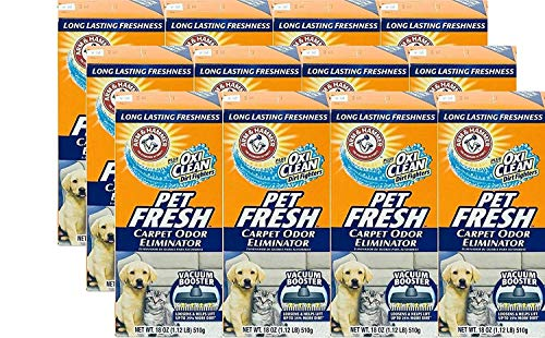 Arm and Hammer Pet Fresh Carpet Odor Eliminator Plus Oxi Clean Dirt Fighters, 16.3 oz, (12 Pack)