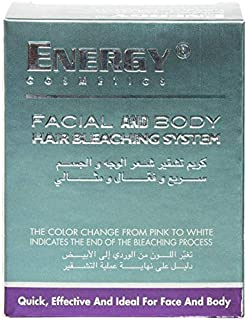 ENERGY COSMETICS FACIAL AND BODY HAIR BLEACHING SYSTEM