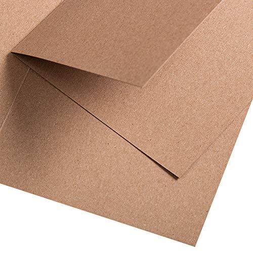 PapierDirekt - 25 Stück Kraftpapier Muskat Klappkarte quadratisch 150 x 150 mm (150 x 150mm), Farbe: muskat, 350 g/qm
