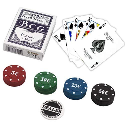 e!Orion Set da poker – Include set di Naipes, 24 fiches da poker e pulsante di spremitore.