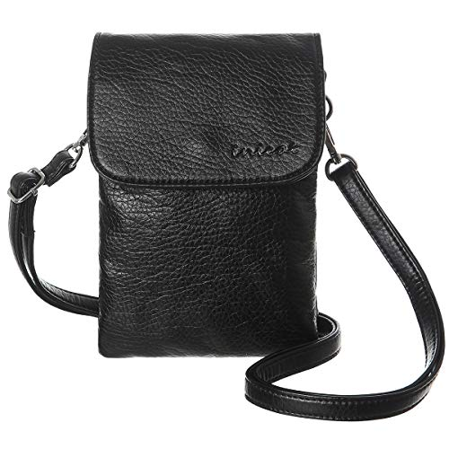 INICAT Women RFID Blocking Small Crossbody Bags Cell Phone Purse Wallet with Credit Card Slots(Black)