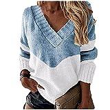 Suéter de Punto de otoño Casual de Manga Larga Suelta