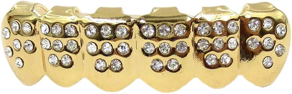 EXCEART 1 Set Golden Grills Teeth Grills Hip Hop Teeth Grills Hip Hop Vampire Fangs for Men and Women