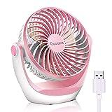 OCOOPA Ventilador de escritorio, color Rosa