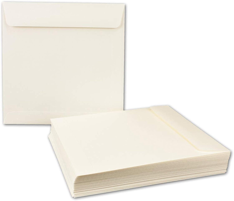 200x quadratische Brief-Umschläge 22 x 22 cm, Opal-Weiß Opal-Weiß Opal-Weiß - Nassklebung, starke Qualität 120 g m² - Quadratische KuGrüns für Einladungs-Karten B07JXZDLBD | Online Kaufen  591b97