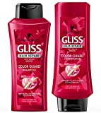 GLISS Hair Repair Color Guard Set with Shampoo and Conditioner for Colored or Highlighted Hair, Set of 2