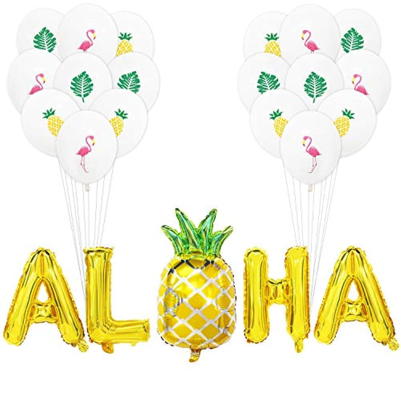 Aloha Balloon Banner | Aloha Balloon Letters | Aloha Balloons with Pineapple | Aloha Balloons Large | Aloha Balloons Gold Pineapple | Aloha Mylar Balloons | Hawaii Luau Aloha Party Decorations | 16IN