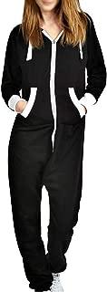 Unisex Long Sleeve All in One Onesie Hooded Zip Up Jumpsuit Playsuit