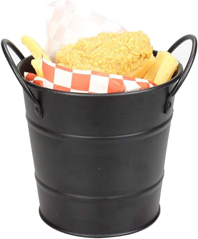 Beverage Tub Mini Tin Handle Free Shipping Los Angeles Mall New French Fries Small Bucket Bar Party