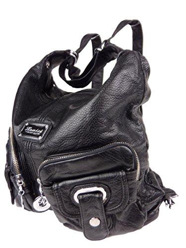 Nancy Rucksacktasche, 2in1 Rucksack und Schultertasche, Batik, 37x31x14cm (schwarz) 89297