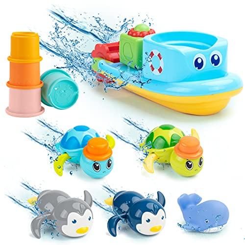 UNIH Bath Toys for 1-5 Year Old Boy Girls Gifts...