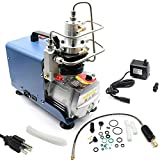 TFCFL High Pressure Air Compressor Pump,Adjustable Control with Auto-Stop 110V 30Mpa Electric Air Pump Air Rifle PCP 4500PSI Paintball Fill Station (Electric Air Compressor)