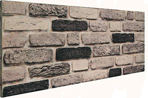 3D Wandverkleidung Wandpaneel aus Styropor in Steinoptik für Wohnzimmer, Küche, Terrasse oder Schlafzimmer - Ziegeleffekt - 100 cm x 50 cm x 2 cm, Typ 151
