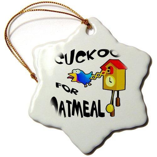 Kysd43Mill Divertido cuco para avena, diseño de pájaro, de cerámica, adornos de...