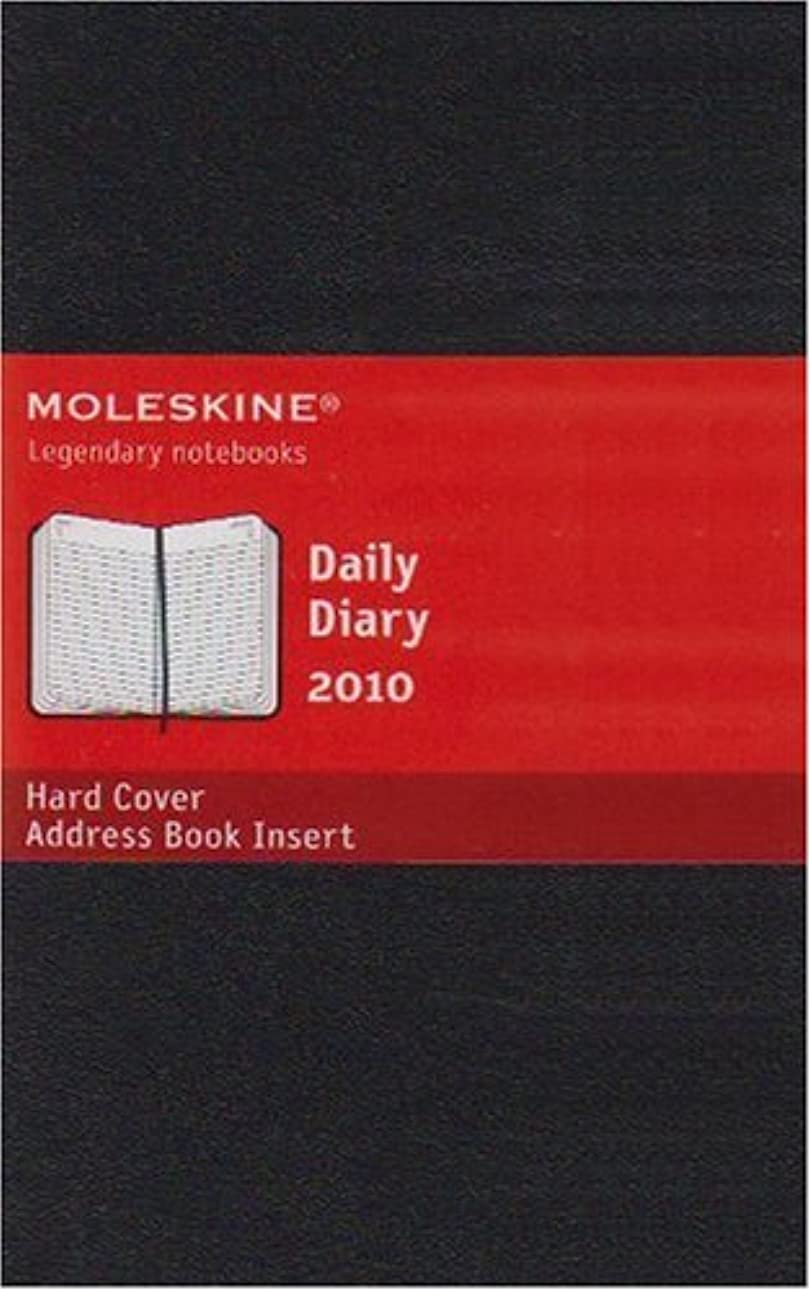 半径動作人質Moleskine Daily Planner 2010 12 Month Pocket HardCover Black (Moleskine Srl)