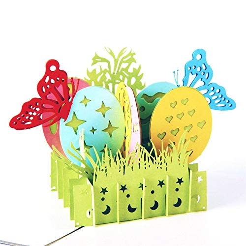 Paper Spiritz Easter Basket Greeting Card, Valentines Day Card, Easter Cards, Pop Up Cards, Religious Easter Cards, 3-D Easter Cards, Pop Up Greeting Cards