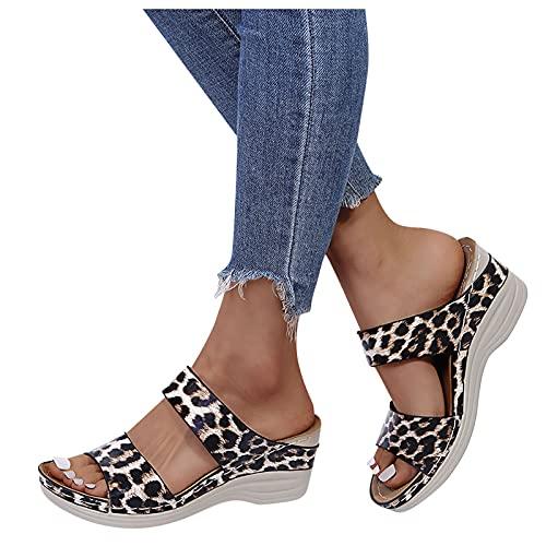 FeelFree+ Sandalia de Cuna para Mujer,Sandalias Mujer Plataforma,Zapatos Verano 2021 Mujer Cabeza...