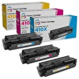 LD Compatible Toner Cartridge Replacement for HP 410X High Yield (Cyan, Magenta, Yellow, 3-Pack)