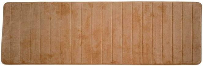 3dsll88 Rectangle Long Kitchen Floor Carpets Hall Soft Rug Bathroom Non-Slip Door Mat UK(50cm 160cmkhaki)
