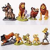 wjf 8 Estilos Animado Rey león Simba muñeca de la hornada de la decoración del Coche Modelo Regalo Creativo 7CM