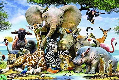 EXking Wood Puzzles Wild Animals Puzzle Safari Large Paper Puzzle Jigsaw Puzzle Kids Adult