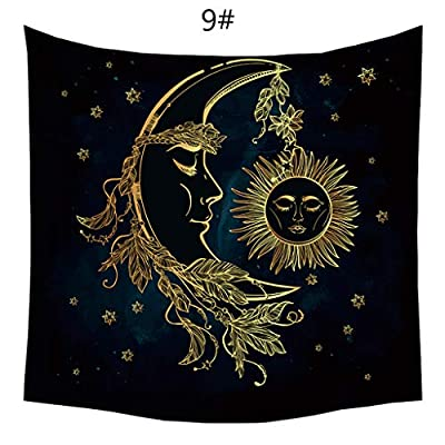 Altar Tarot Table Cloth?Sun and Moon Psychedelic Wall Tarot Tapestry? Divination Altar Tarot Tablecloth