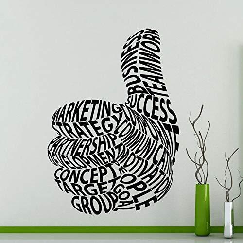 fancjj Daumen hoch Wandtattoo Geschäftsmotivation Worte Office Studio Innendekor Tür Fenster Vinyl Aufkleber Creatives Wallpaper