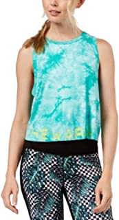 Jessica Simpson The Warmup Juniors' Tie-Dyed Logo Crop Tank Top