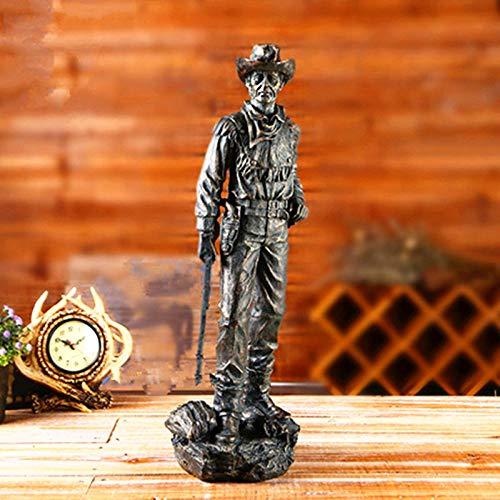 DAJIADS Figuras,Estatuas,Estatuillas,Esculturas,Vintage Vaqueros del Oeste Americano Figura Estatua De Estilo Europeo para La Decoración del Hogar Decoración Art Deco Resina Escultura Ador