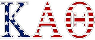Kappa Alpha Theta American Flag Greek Letter Sticker - 2.5
