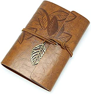 Leather Writing Journal, Refillable Travelers Notebook, Men & Women Leather Journals to Write in, Art Sketchbook, Travel D...