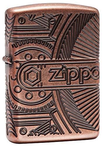 Imagen del productoZippo Gears Regular Briquet, Unisex, Armor Antique Copper, M