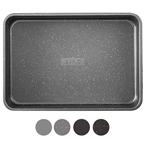 BINO Bakeware Nonstick Baking Pan 9 x 13 Inch  Speckled Gunmetal | Premium Quality Textured Cake Pan with EvenFlow Technology | Dishwasher Safe | NonToxic