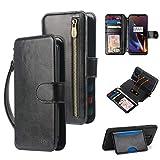 CORNMI OnePlus 6T Wallet Case, Zipper Pocket Strap DIY Crossbody...