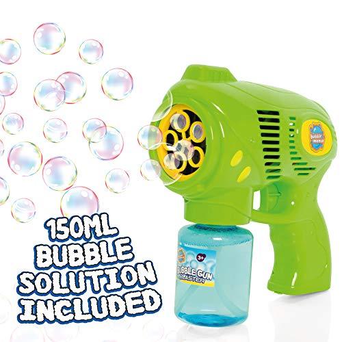 Bubble Mania - Seifenblasenpistole - Automatische Seifenblasenmaschine für Kinder - Seifenblasenspielzeug für Kinder ab 3 Jahren