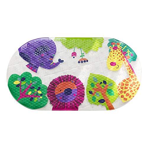 DoreenBow Badewannenmatte Baby Rutschfeste Cartoon Fußmatte Badewanne Kinder Duschmatten für Badezimmer WC 38cmx70cm