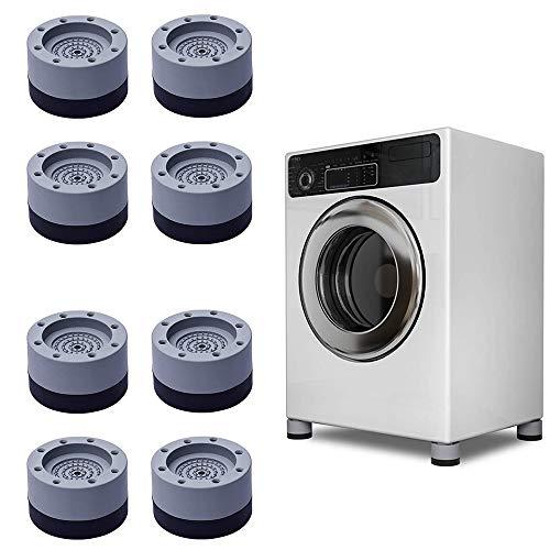 DHHSUK Schock- und Geräuschunterdrückung Waschmaschinenunterstützung, Waschmaschine und Trockner Anti-Vibrations-Pads, Anti-Walk Anti-Rutsch-Gummifuß-Pads (2 Set)