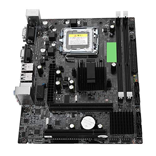 Computer Motherboard,Desktop Computer Motherboard LGA 775 USB2.0 SATA Mainboard for Intel G41 Support IDE Port, Small Size and Easy to Install