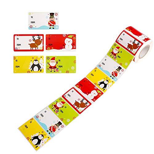 500 Pegatinas Navideñas Etiquetas Adhesivas Navidad Stickers Regalo Etiqueta Pegatinas Etiquetas Autoadhesivo Papá Noel...