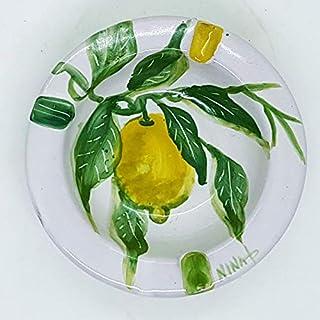 Posacenere Limoni Verde Realizzato e dipinto a mano Le Ceramiche del Castello Idea Bomboniera dimensioni 10 x 10 x 3 centi...
