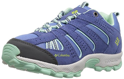 Columbia Youth North Plains, Chaussures Multisport Outdoor Fille, Bleu (Medieval, Spring Yellow 570), 39 EU